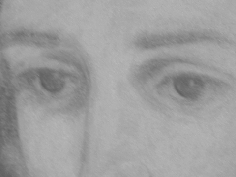 Eyes, detail from drawing by Richard Stodart